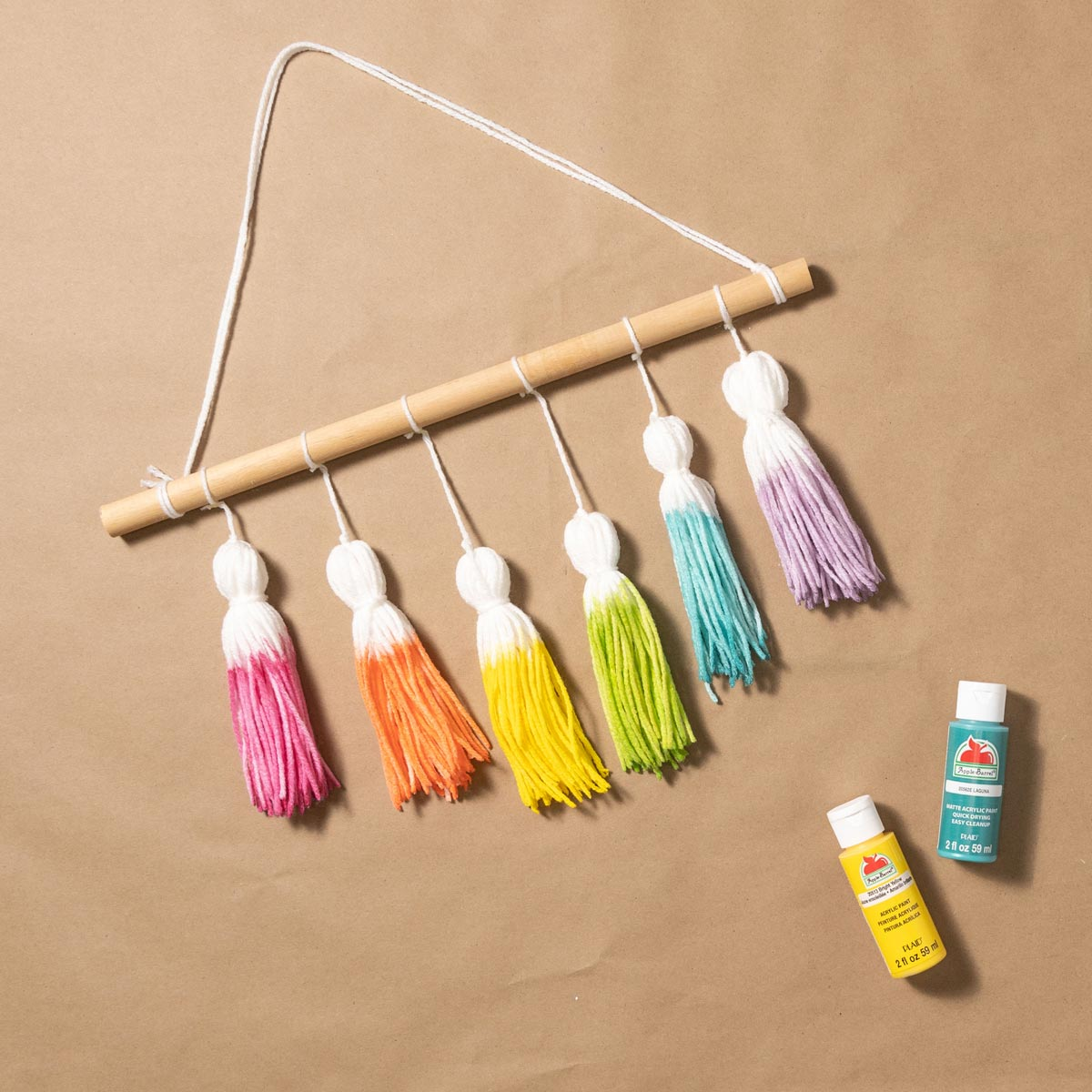 Yarn Tassel Wall Hanging