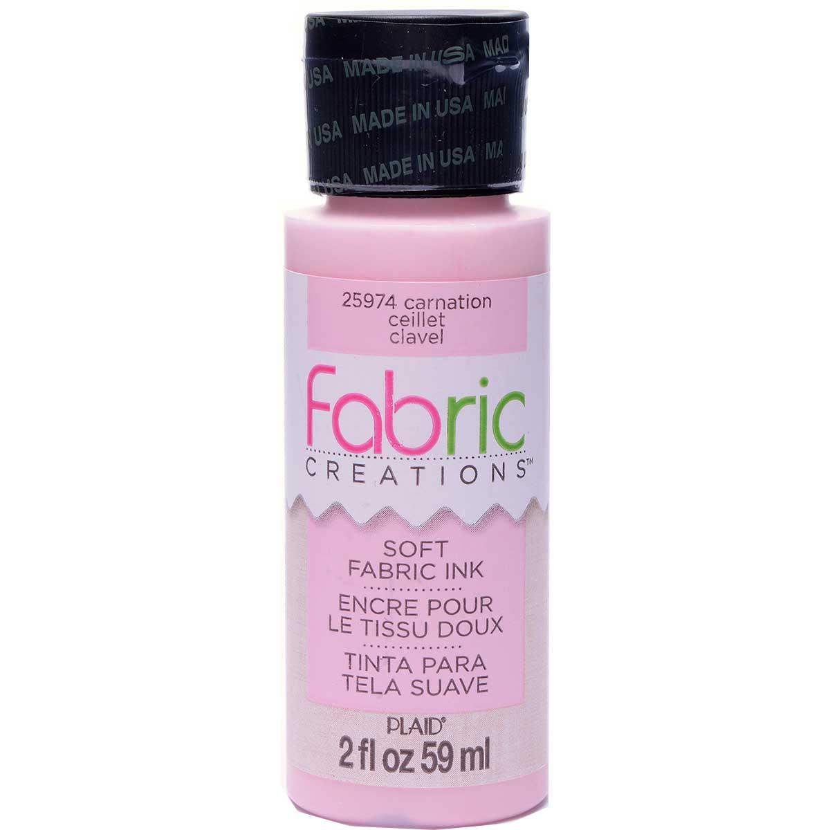 Fabric Creations™ Soft Fabric Inks - Carnation, 2 oz.