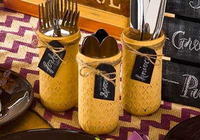Thanksgiving Buffet Utensil Holders