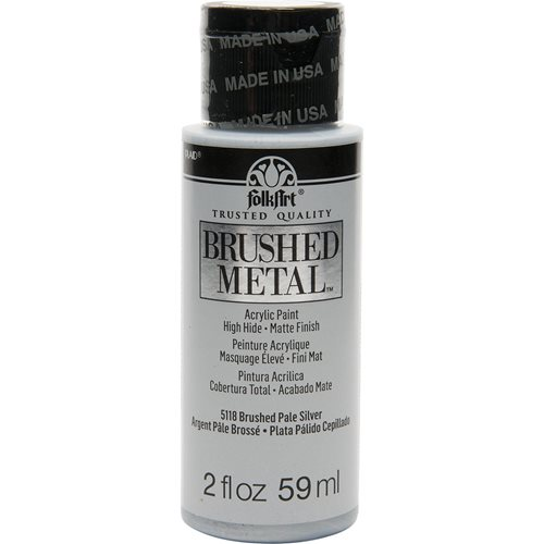 FolkArt ® Brushed Metal™ Acrylic Paint - Pale Silver, 2 oz.