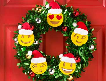 Emoji Holiday Wreath