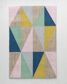 Geometric Color-blocked Area Rug DIY