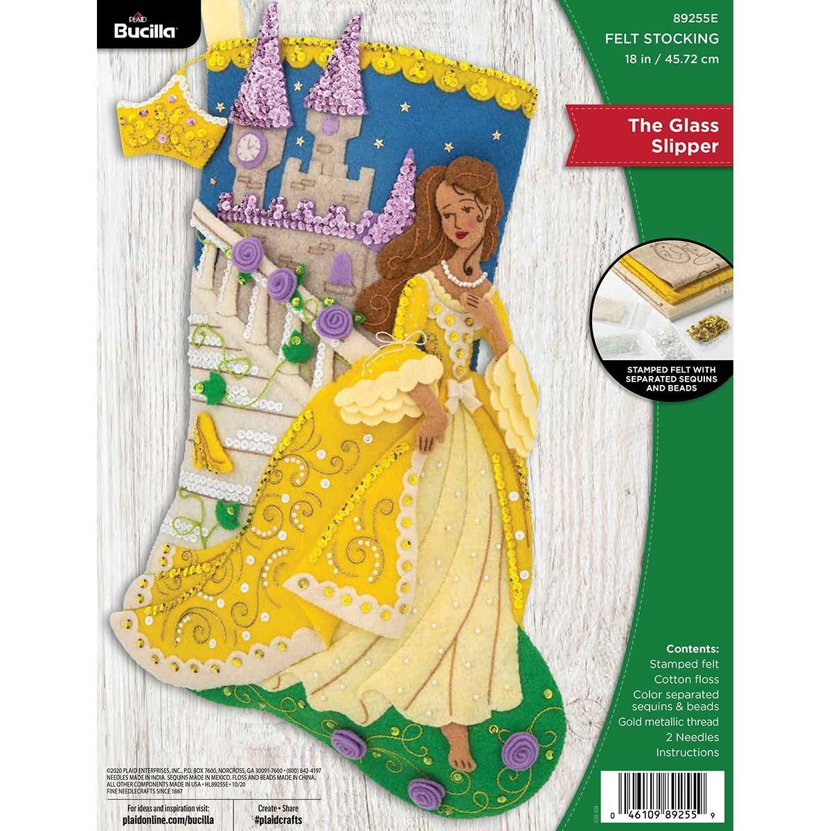 Bucilla ® Seasonal - Felt - Stocking Kits - The Glass Slipper - 89255E