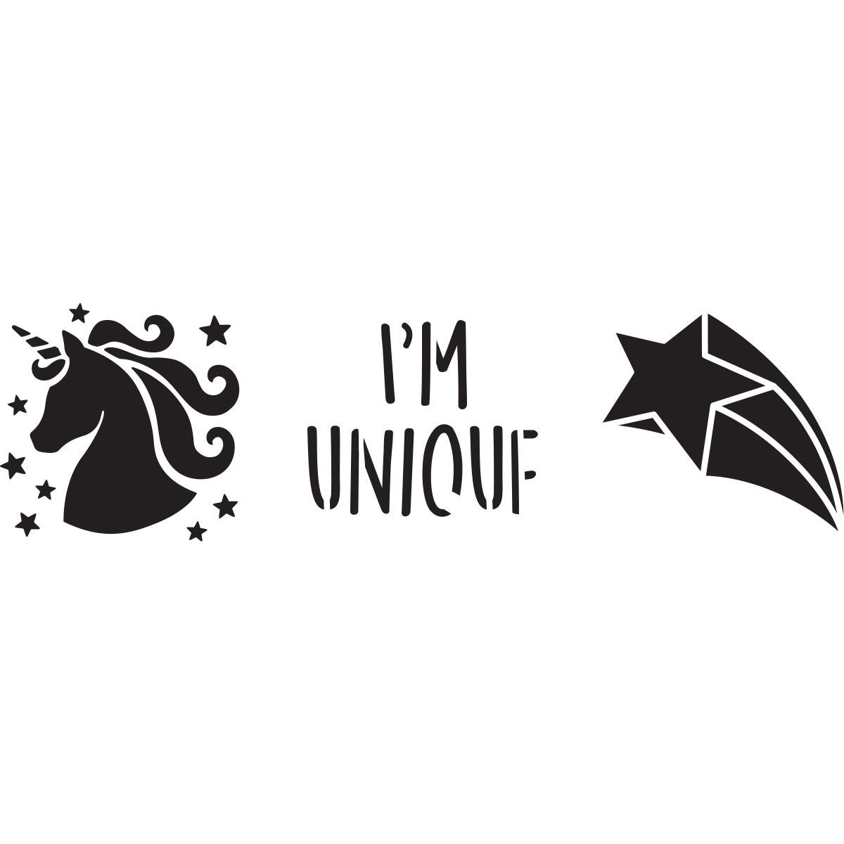 Fabric Creations™ Adhesive Stencils - Mini - Unicorn, 3