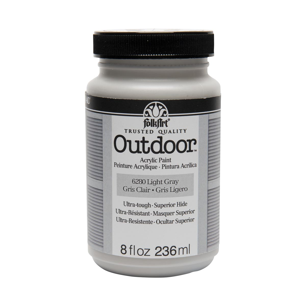 FolkArt ® Outdoor™ Acrylic Colors - Light Gray, 8 oz. - 6280