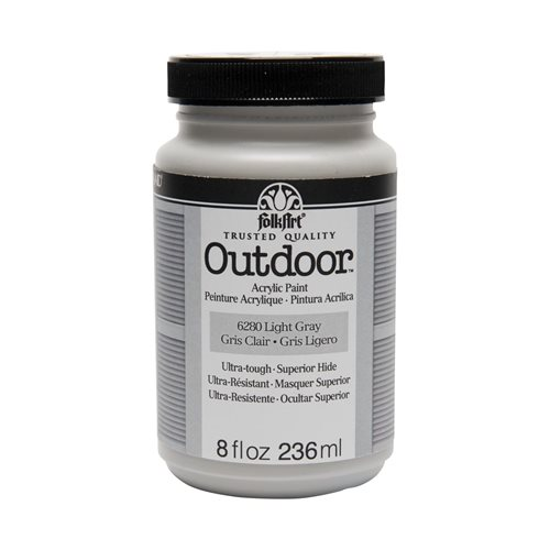 FolkArt ® Outdoor™ Acrylic Colors - Light Gray, 8 oz.