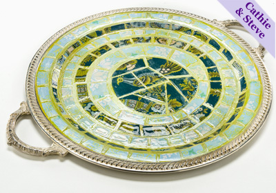 Faux Mosaic Vintage Tray