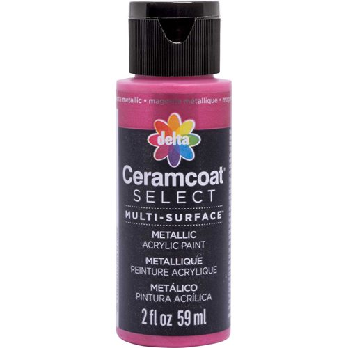 Delta Ceramcoat ® Select Multi-Surface Acrylic Paint - Metallic - Magenta, 2 oz.