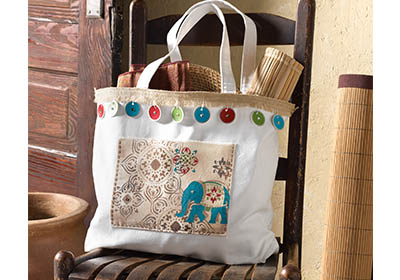 Tangier Stenciled Tote Bag