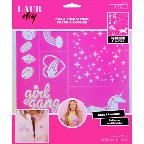 LaurDIY ® Peel & Stick Stencils - Large - Unicorn Whimsy
