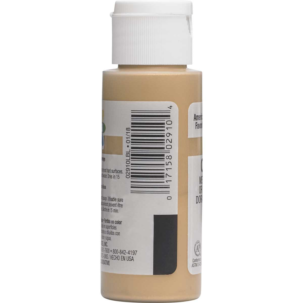 Delta Ceramcoat ® Acrylic Paint - Metallic Antique Gold, 2 oz.
