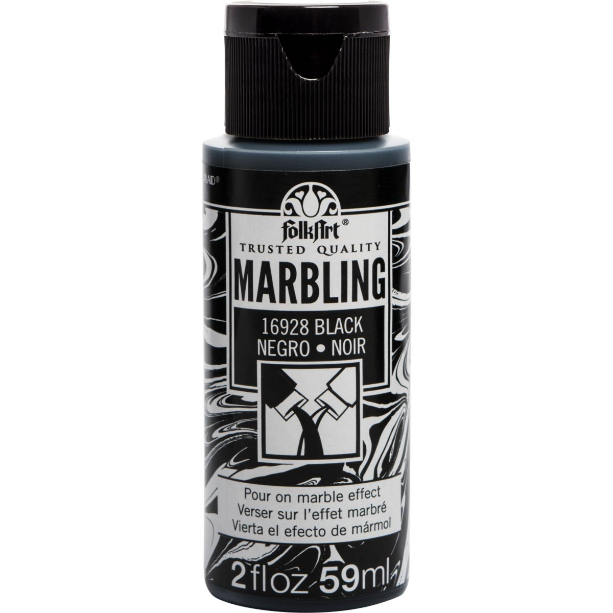 FolkArt ® Marbling Paint - Black, 2 oz.
