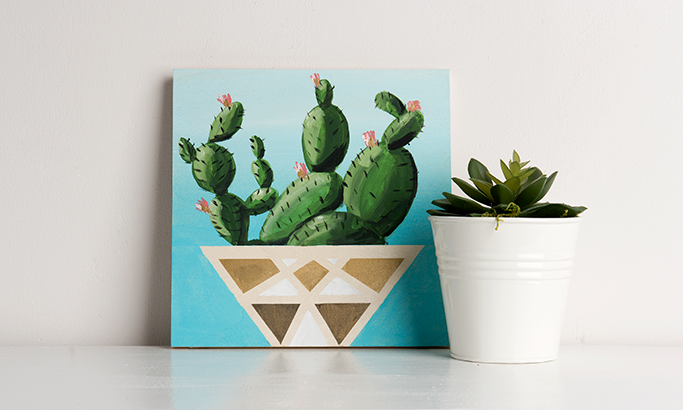 Paint Party - Learn to Paint the Blooming Cactus