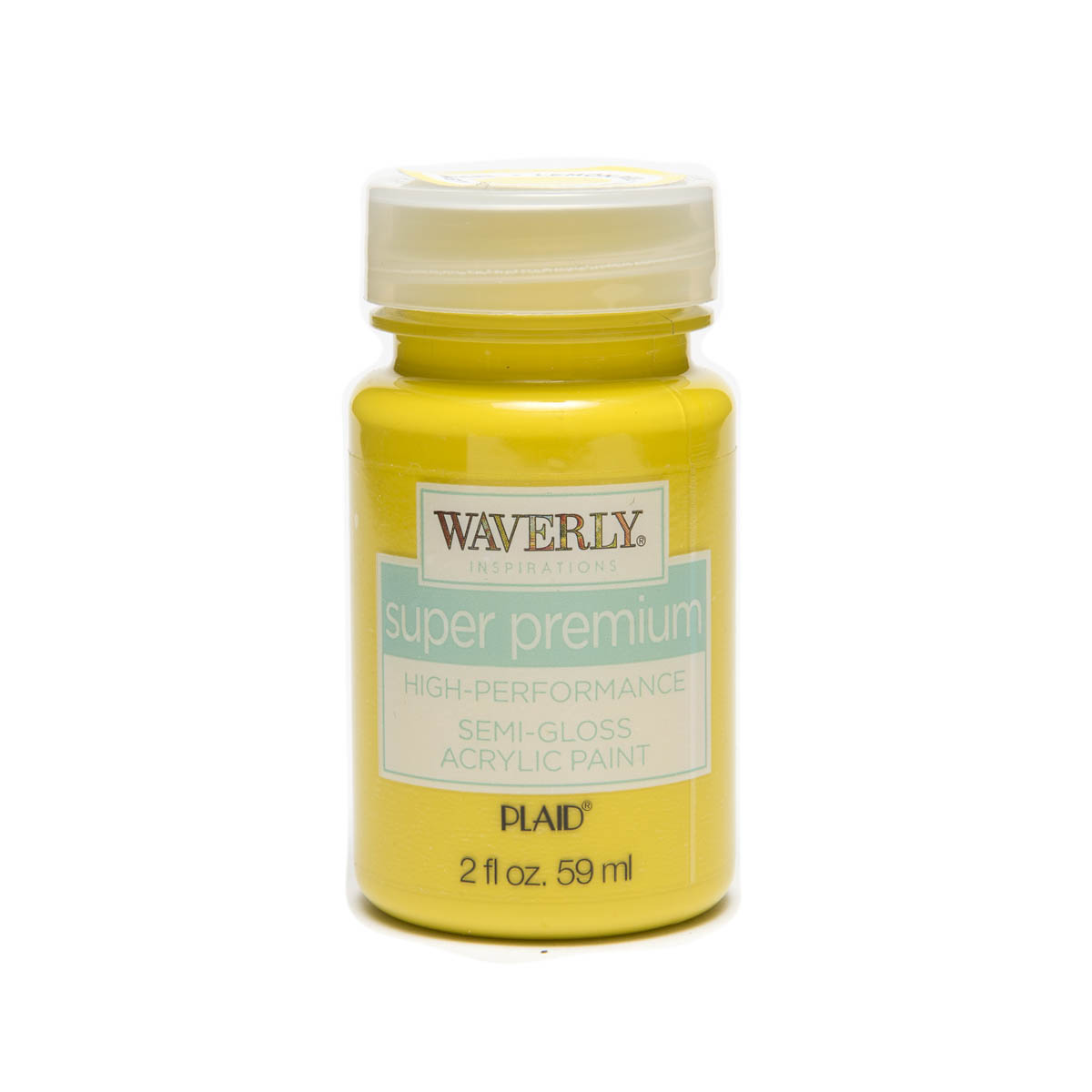 Waverly ® Inspirations Super Premium Semi-Gloss Acrylic Paint - Lemon Peel, 2 oz. - 60618E