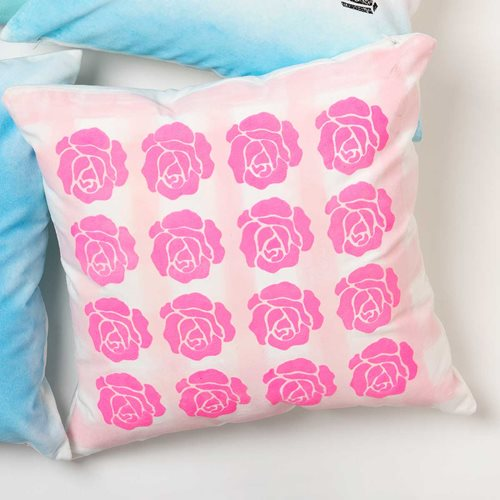 Vintage Rebel Rose Pillow