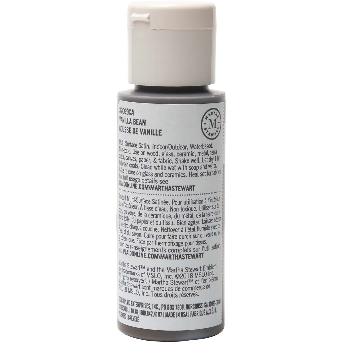 Martha Stewart ® Multi-Surface Satin Acrylic Craft Paint - Vanillla Bean, 2 oz. - 32069CA