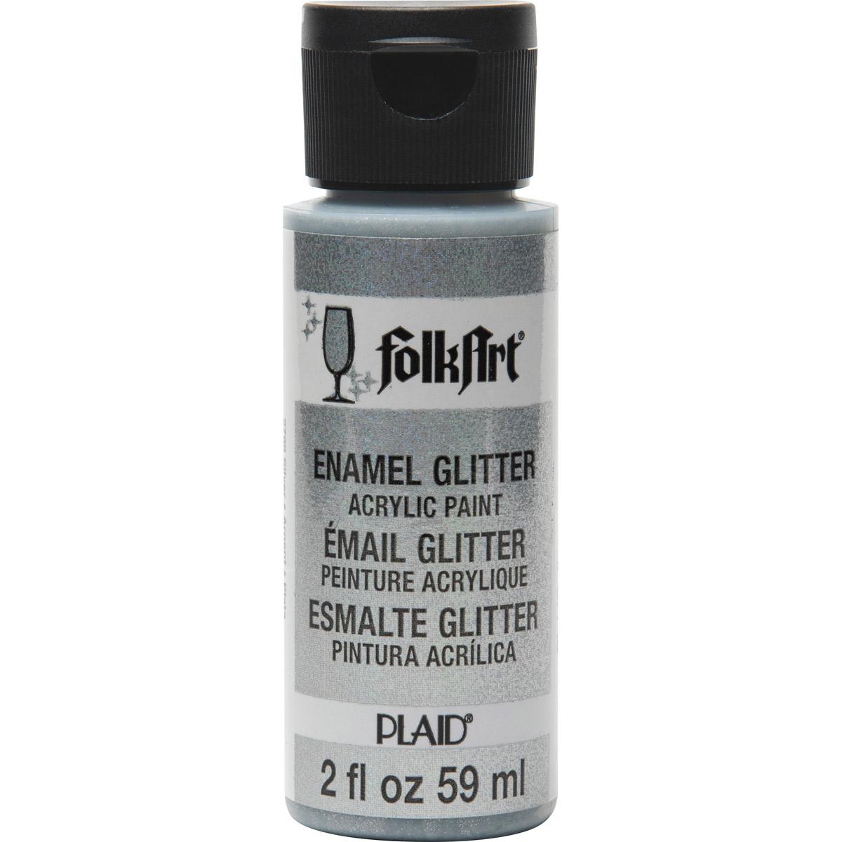 FolkArt ® Enamels™ - Glitter Silver, 2 oz.