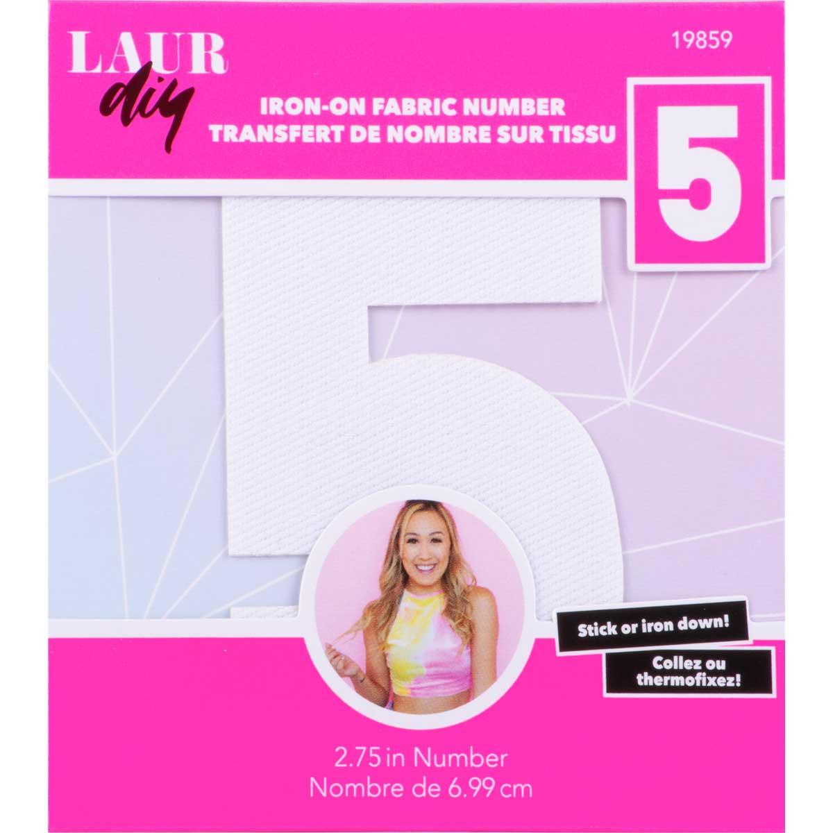 LaurDIY ® Iron-on Fabric Letters - 5 - 19859