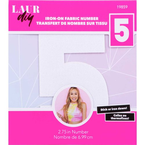 LaurDIY ® Iron-on Fabric Letters - 5