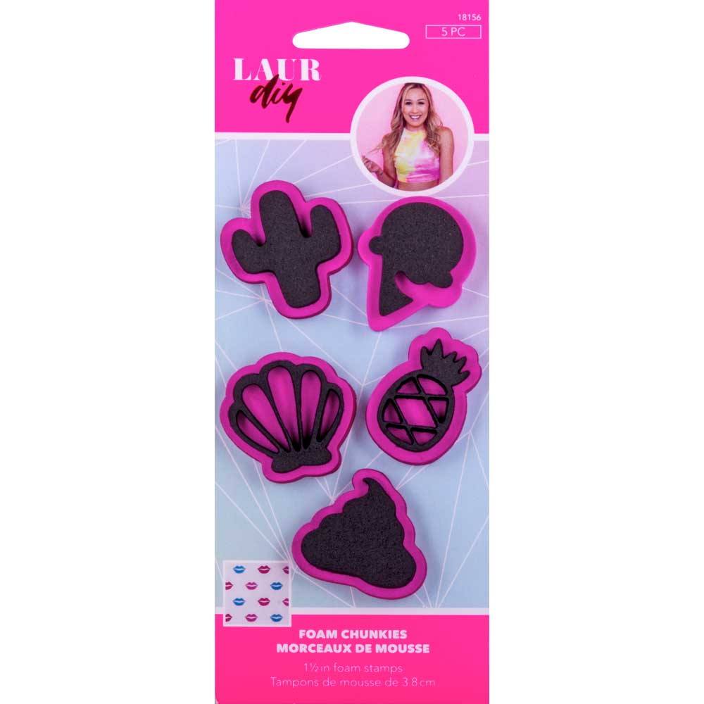 LaurDIY ® Foam Chunkies - Unicorn Whimsy, 5 pc. - 18156