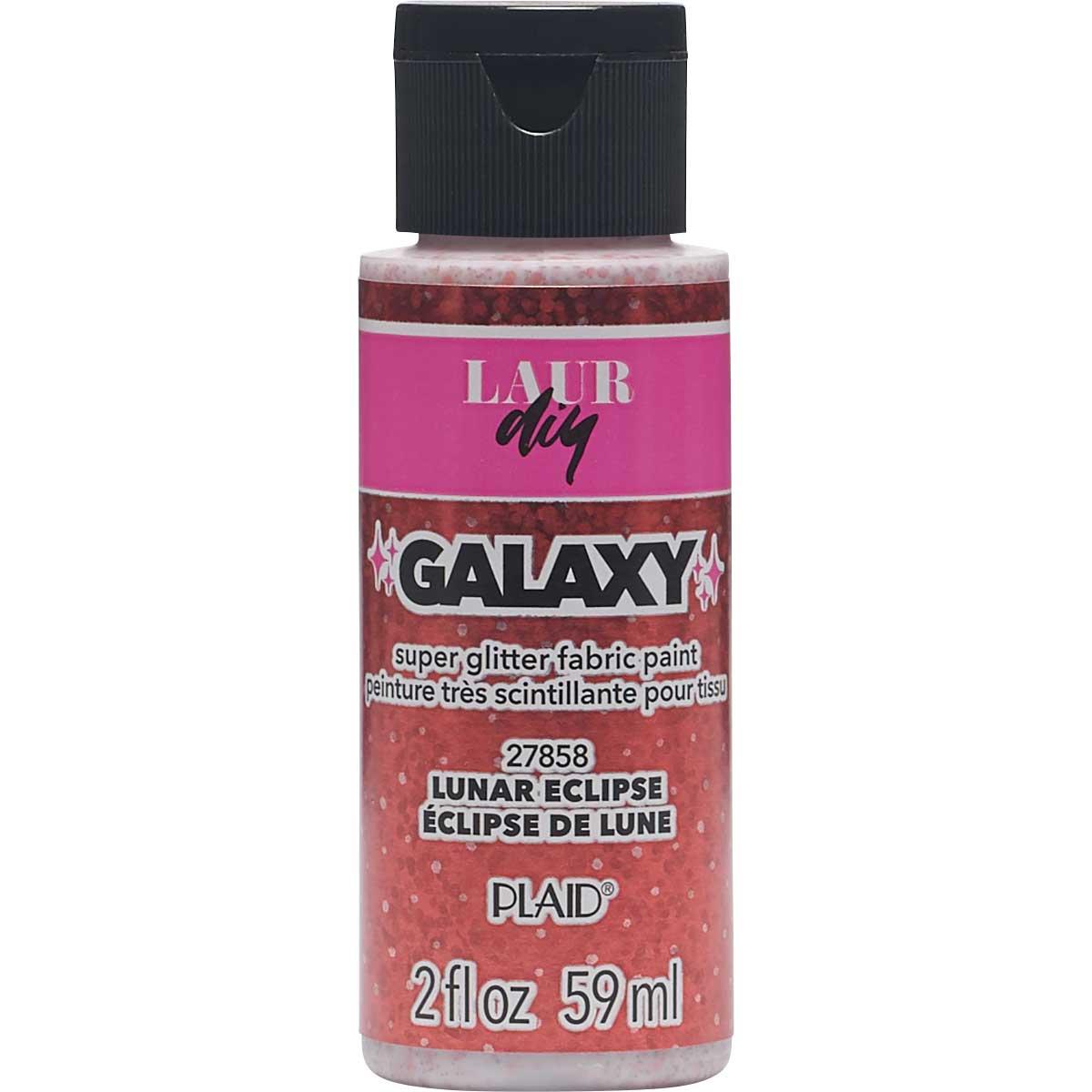 LaurDIY ® Galaxy Glitter Fabric Paint - Lunar Eclipse, 2 oz.