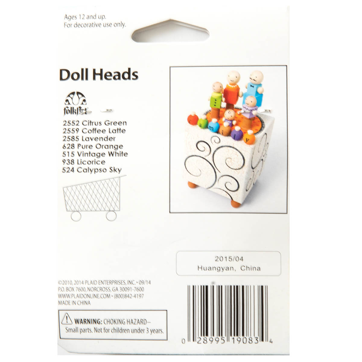 Plaid ® Surfaces - Wood Turnings Doll Heads - 19083
