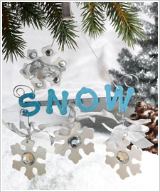 Jeweled Snowflakes Ornament