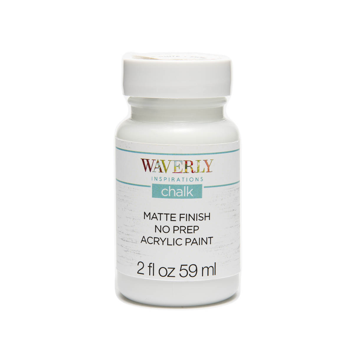 Waverly ® Inspirations Chalk Finish Acrylic Paint - White, 2 oz. - 60736E