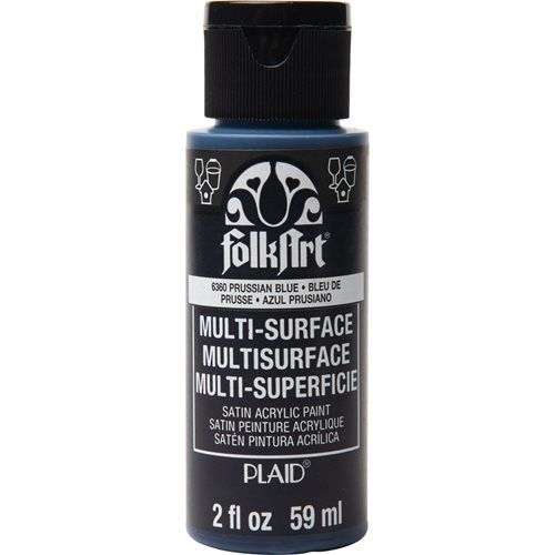FolkArt ® Multi-Surface Satin Acrylic Paints - Prussian Blue, 2 oz. - 6360