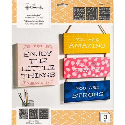 "Hallmark Handcrafted Adhesive Stencils - So Happy Font, 8-1/2"" x 9-1/2"""