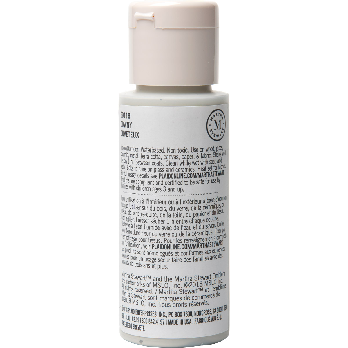 Martha Stewart® 2oz Multi-Surface Satin Acrylic Craft Paint - Downy