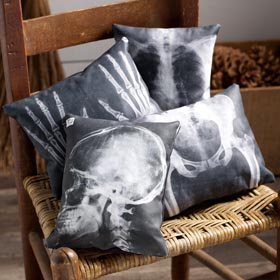 X-Ray Pillows Halloween Decoration Idea