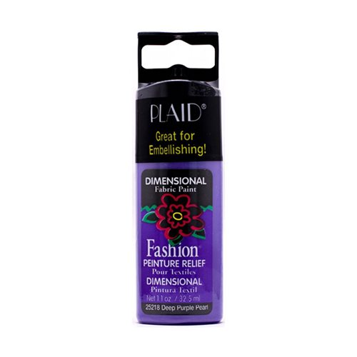 Fashion ® Dimensional Fabric Paint  - Pearl - Deep Purple
