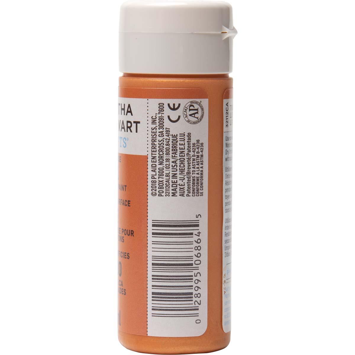 Martha Stewart ® Multi-Surface Pearl Acrylic Craft Paint - Tiger Lily, 2 oz. - 32112CA