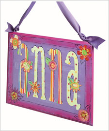 Personalized Hanging Name Plaque