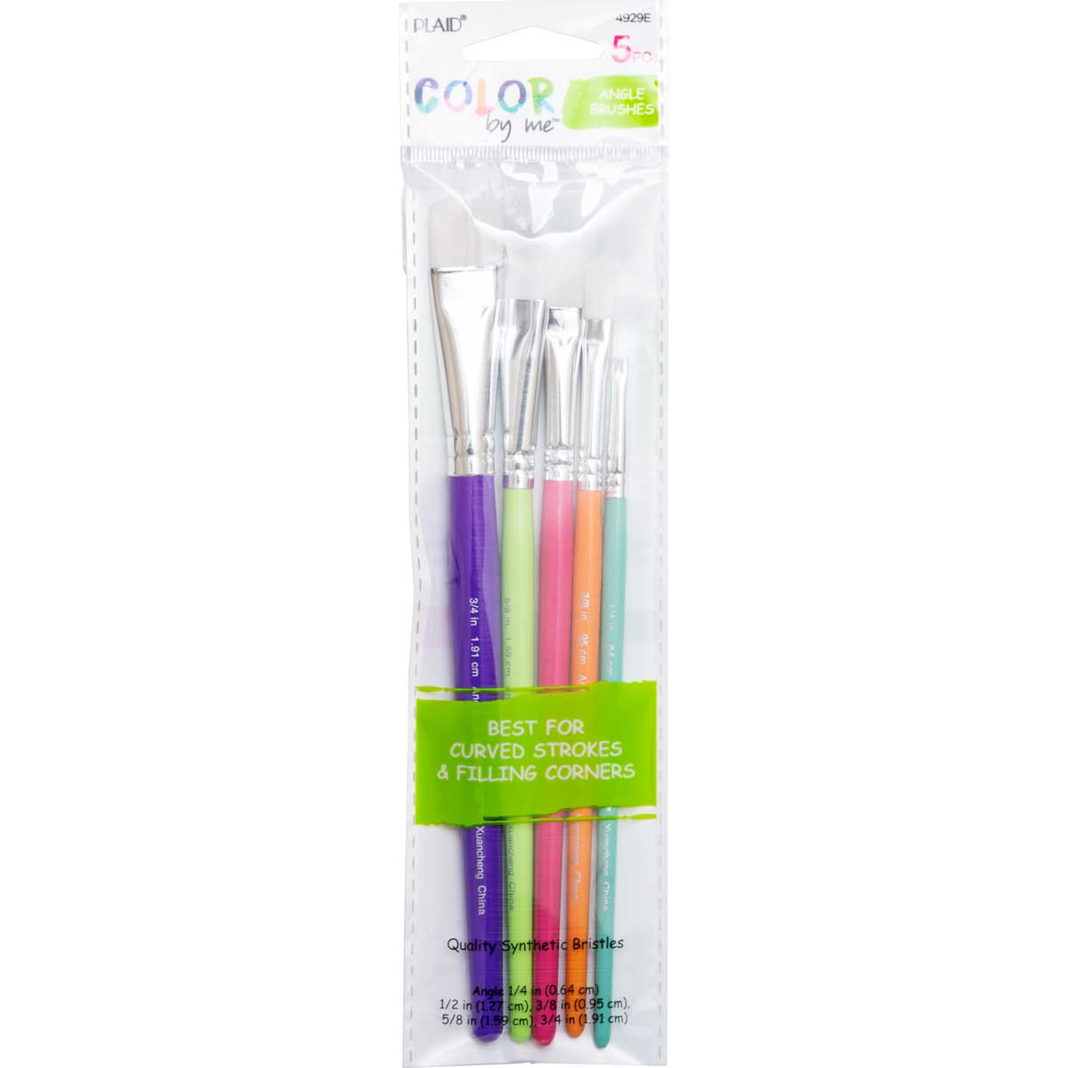 Plaid ® Color By Me™ Brush Sets - Angle Brushes, 5 pc.