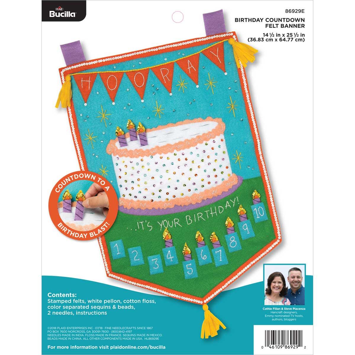 Bucilla ® Felt - Home Decor - Birthday Countdown Banner