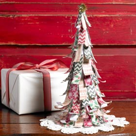 Easy DIY Christmas Decor - Scrap Paper Christmas Tree