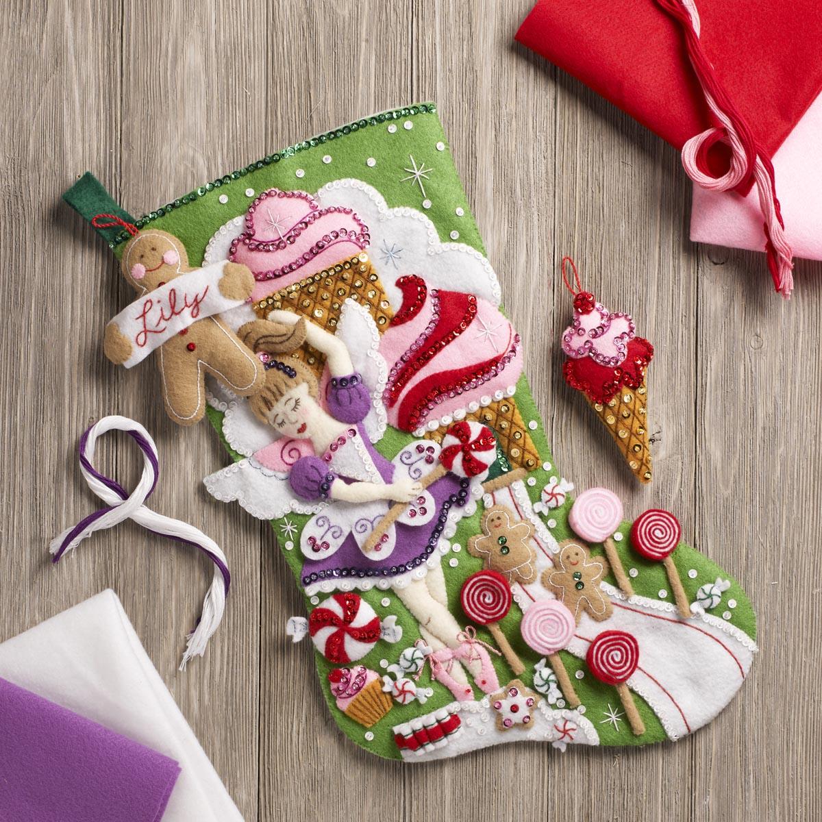 Bucilla ® Seasonal - Felt - Stocking Kits - Sugarland Fairy