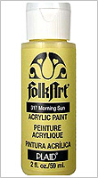FolkArt ® Acrylic Colors - Lime Yellow, 2 oz.