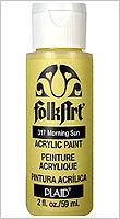 FolkArt ® Acrylic Colors - Lime Yellow, 2 oz.