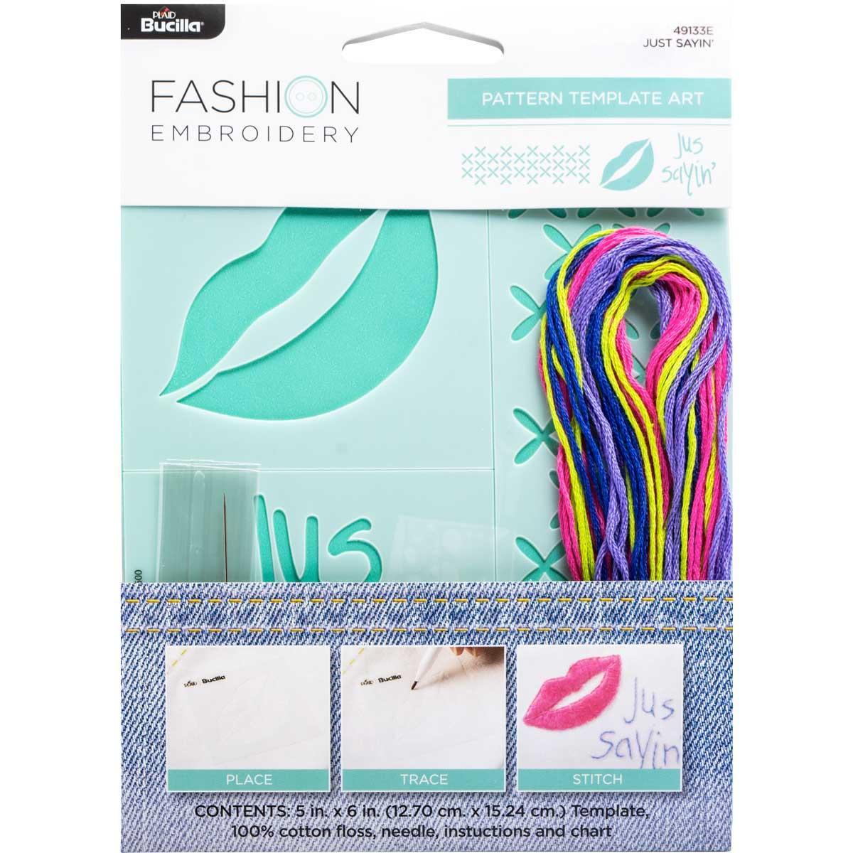 Bucilla ® Fashion Embroidery Kit - Just Sayin'