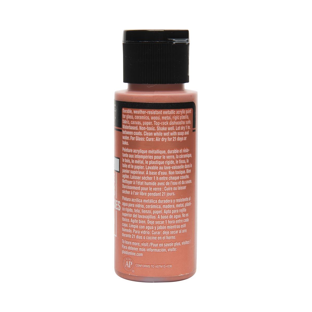 FolkArt ® Multi-Surface Metallic Acrylic Paints - Fire Opal, 2 oz.