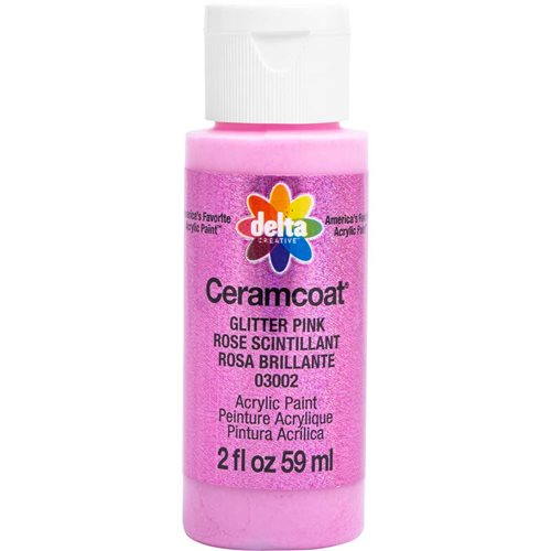 Delta Ceramcoat ® Acrylic Paint - Glitter Pink, 2 oz. - 03002