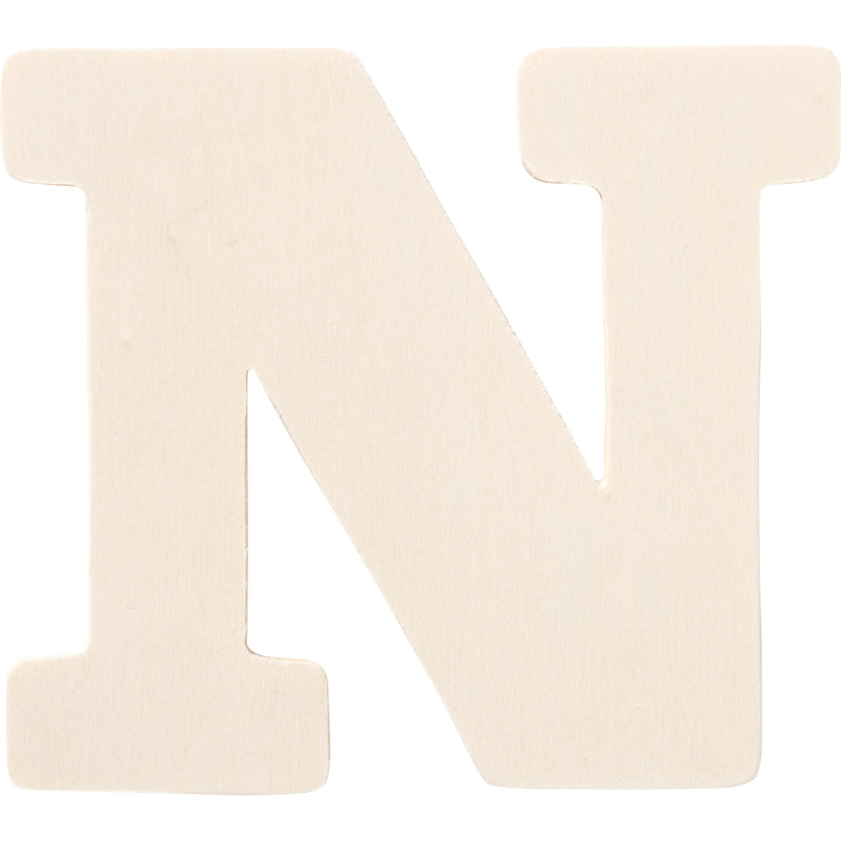 Plaid ® Painter's Palette™ Wood Letter - N. 4 inch