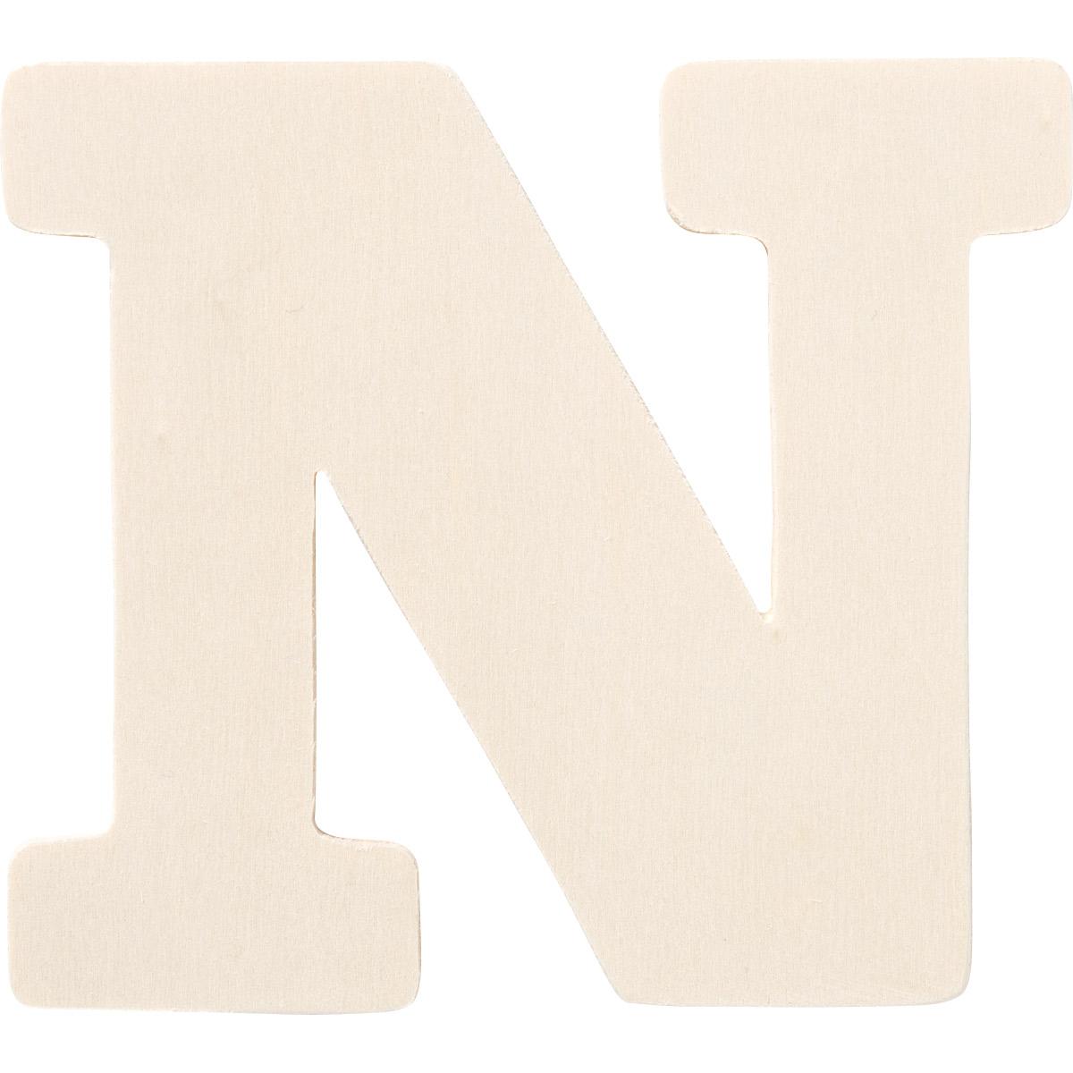 Plaid ® Painter's Palette™ Wood Letter - N. 4 inch - 23878