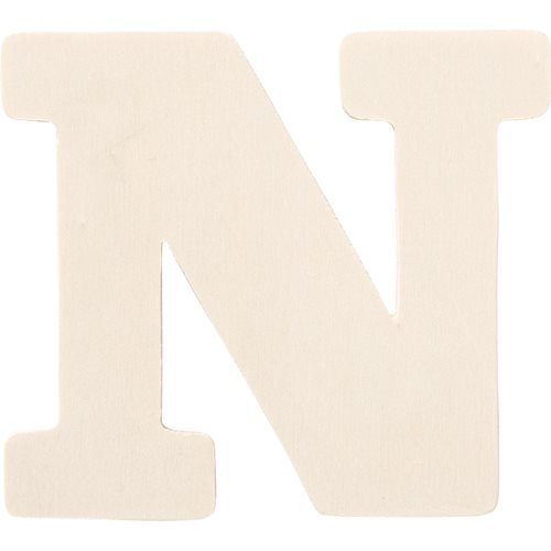 Plaid ® Painter's Palette™ Wood Letter - N. 4 inch - 23878