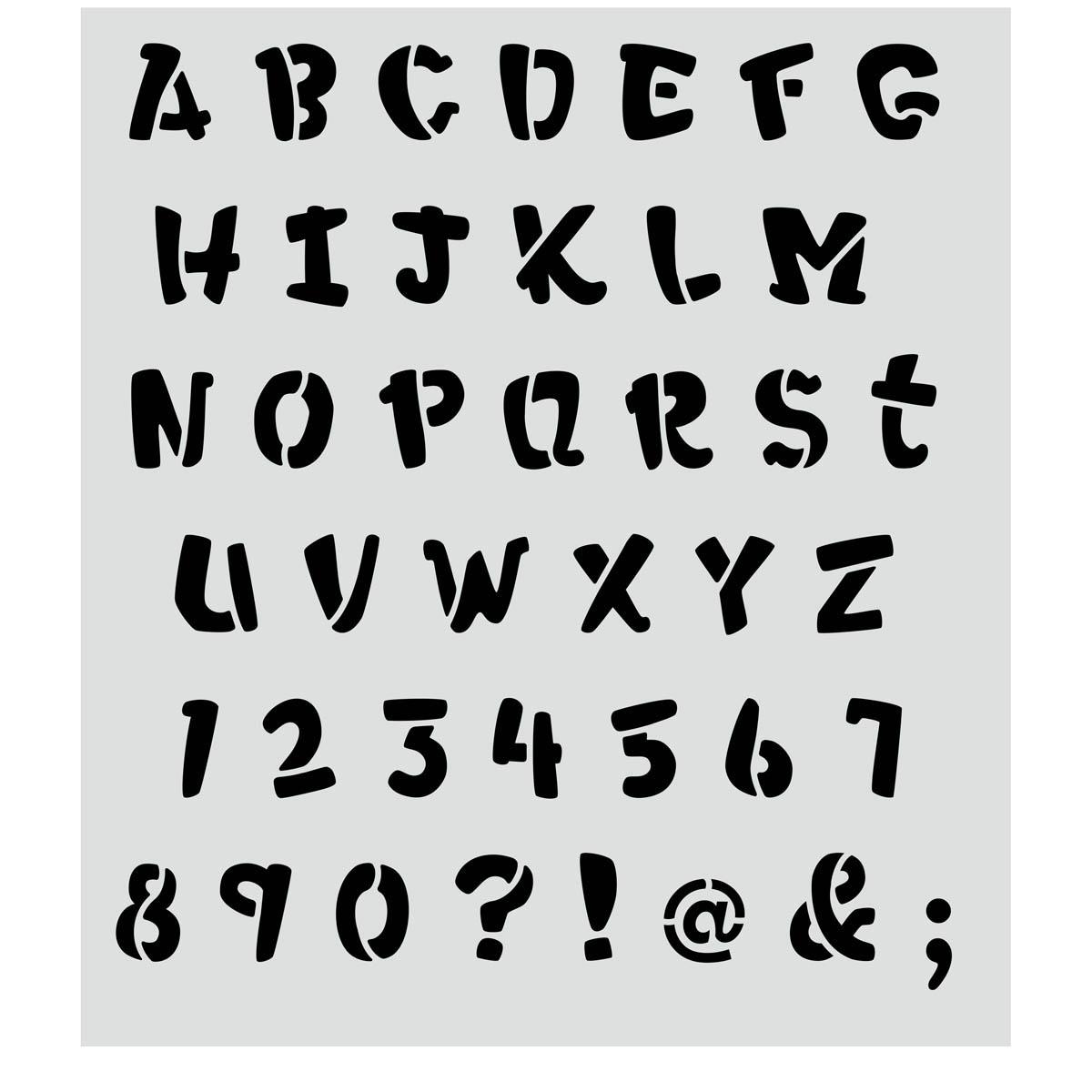 FolkArt ® Painting Stencils - Laser - Alphabet Heavy Marker - 30737