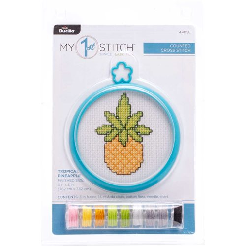 Bucilla ® My 1st Stitch™ - Counted Cross Stitch Kits - Mini - Tropical Pineapple - WM47815E