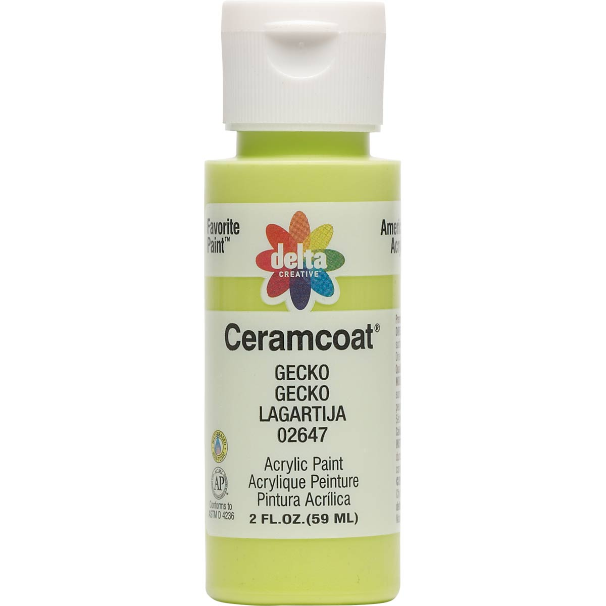 Delta Ceramcoat Acrylic Paint - Gecko, 2 oz. - 026470202W